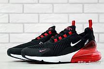 Кроссовки мужские Nike Air Max 270 (черные-красные)  Top replic, фото 3