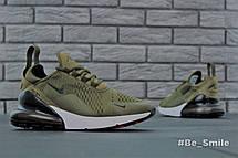 Кроссовки мужские Nike Air Max 270 (зеленые) Top replic, фото 2
