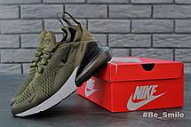 Кроссовки мужские Nike Air Max 270 (зеленые) Top replic, фото 3