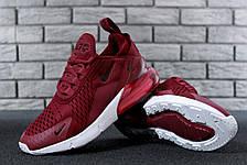 Кроссовки женские Nike Air Max 270 (бордовые) Top replic, фото 2