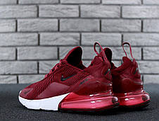 Кроссовки женские Nike Air Max 270 (бордовые) Top replic, фото 3