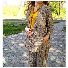 Брючный стильный женский костюм в клетку 42-44 р. (Турция)