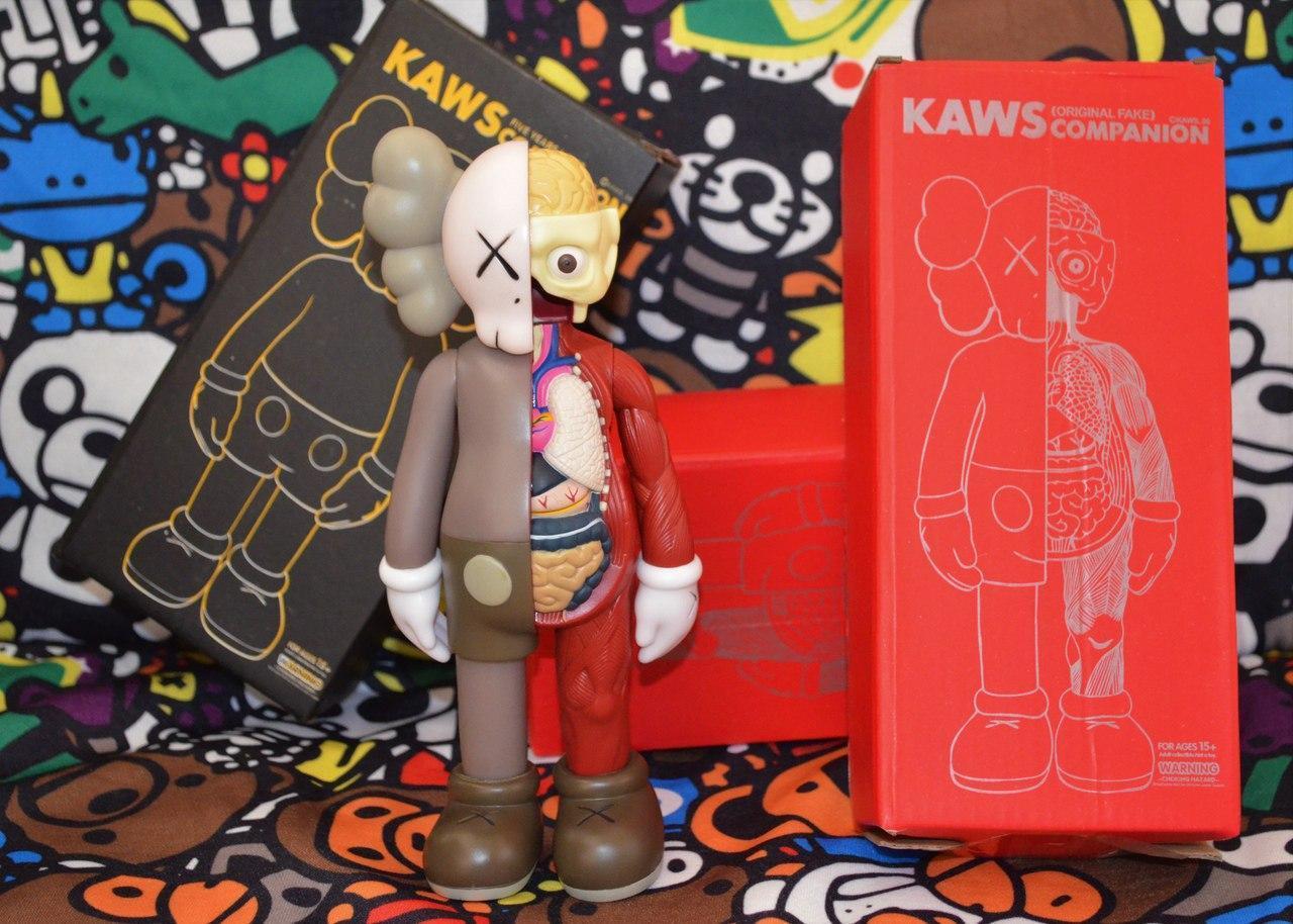 Игрушка Kaws Originalfake Dissected Companion brown
