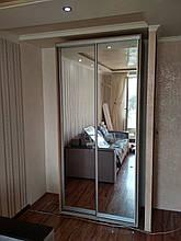 Шкаф-купе 140x60x240 см - две двери - зеркало или ДСП - МФ Влаби - Одесса