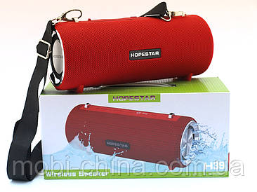 Hopestar H39, портативна bluetooth колонка 10W, червона