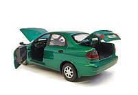 Металлическая модель daewoo lanos 7778-1 зеленый, фото 5