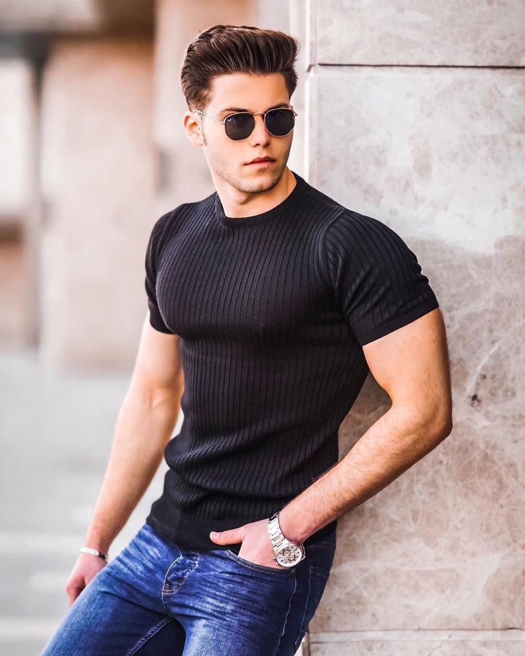 Мужская футболка Madmext 504 black