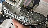 Versace ! Стильные женские цвет никель летние кожаные балетки туфельки в стиле Версаче натуральная кожа, фото 7