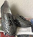 Versace ! Стильные женские цвет никель летние кожаные балетки туфельки в стиле Версаче натуральная кожа, фото 9