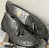 Versace ! Стильные женские цвет никель летние кожаные балетки туфельки в стиле Версаче натуральная кожа, фото 10