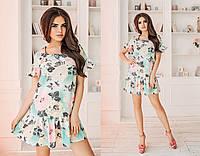 Женское Летнее платье с цветочным принтом