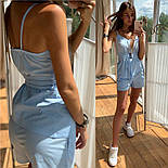 Женский костюм прогулочный Коттон майка и шорты (в расцветках), фото 7