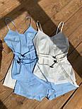Женский костюм прогулочный Коттон майка и шорты (в расцветках), фото 5
