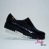 Туфли женские из черной натуральной кожи