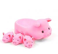 Игрушка для ванной WATHgame ZT8891-2-3-4 Животные Свинка Розовый, КОД: 1332077