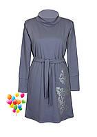 Теплое женское платье с воротом, фото 1
