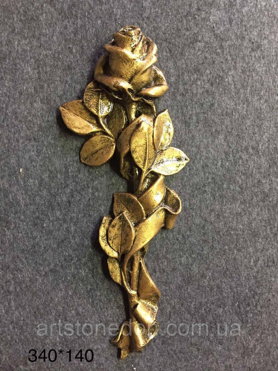 Накладка на памятник Веточка розы №6 из полимера