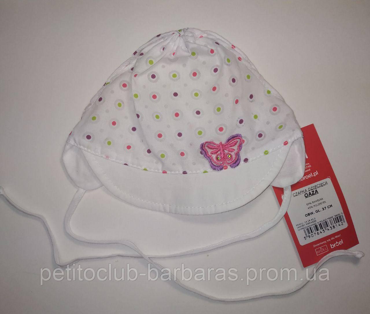 Детская летняя кепка для новорожденной девочки Oaza (Broel, Польша)