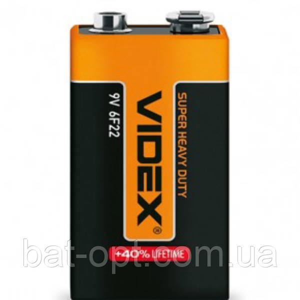 Батарейка солевая Videx крона 6F22 9V (трей)
