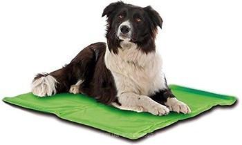 Охолоджуючий килимок для собак з антикомариной просоченням 65*50 см (зелений) літо