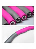 Обруч массажный для похудения Massege Hoop BOYU-1108 96 см Серо-розовый, фото 2