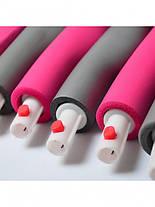 Обруч массажный для похудения Massege Hoop BOYU-1108 96 см Серо-розовый, фото 3