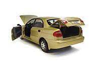 Металлическая модель daewoo lanos 7778-2 золотой, фото 5