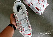 Кроссовки мужские Nike Air Max Uptempo (белые-красные) Top replic, фото 3