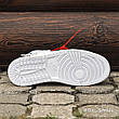 Кроссовки мужские Nike Air JORDAN 1 off-white (белые) Top replic, фото 2