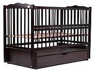 """Детская кроватка для новорожденных Веселка ТМ """" Дубик-М"""" маятник, ящик, откидной бок"""