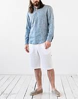 Комплект одежды мужская рубашка и шорты из натурального льна. Размер 40-72+