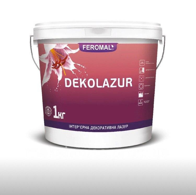 Інтер'єрна декоративна лазур з вмістом голографічних блискіток DEKOLAZUR ULTRA, 1кг