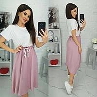Сукня вільного крою двоколірна жіноча НОРМА (ПОШТУЧНО)