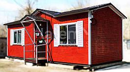 """Мобильный дачный домик """"КАНТРИ"""" 33,3 м2., на основе цельно-сварного металлического каркаса."""