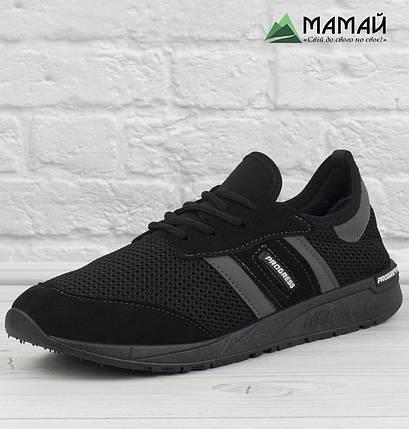 Кросівки чоловічі сітка чорні, фото 2