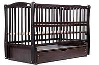 Детская кроватка Дубик-М Элит Венге, маятник, ящик, откидной бок