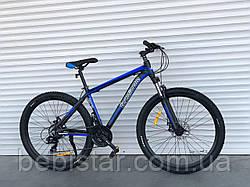Спортивный велосипед черно-синий TopRider 27,5 дюймов 21-скорость Shimanо алюминиевая рама 17 дюймов
