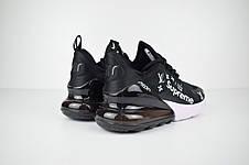 Кроссовки женские Nike Air Max 270 x Supreme x LV  (черные) Top replic, фото 3