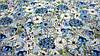 """Тканина штапель ніжно-блакитного кольору """"Петунії"""", фото 2"""