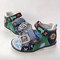 Детские босоножки сандалии для мальчика зелёные Y.TOP 25р 15,5см, фото 2