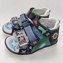 Детские босоножки сандалии для мальчика зелёные Y.TOP 27р 17см, фото 3
