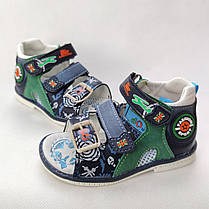 Детские босоножки сандалии для мальчика зелёные Y.TOP 27р 17см, фото 2