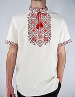 """Сорочка чоловіча вишиванка """"Сніжинка"""" рр.48-58 / чоловіча вишиванка / мужская вышиванка с коротким руквом"""