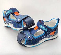 Детские босоножки сандалии для мальчика синие Y.TOP 27р 17см