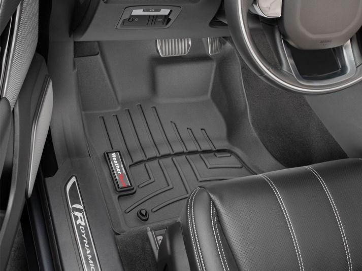 Ковер резиновый WeatherTech Jaguar F-Pace 2017+передние  черные