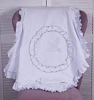 Летний конверт-плед «Нежность» на выписку для новорожденных. Белый