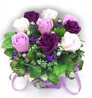 """Подарок- ароматный букет,розы из мыла """"лавандовое настроение"""" №9, фото 1"""