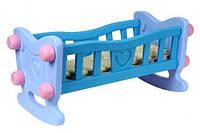 Кроватка для куклы ТехноК 4197 с постельным бельем Голубой 2-4197-57292, КОД: 972816