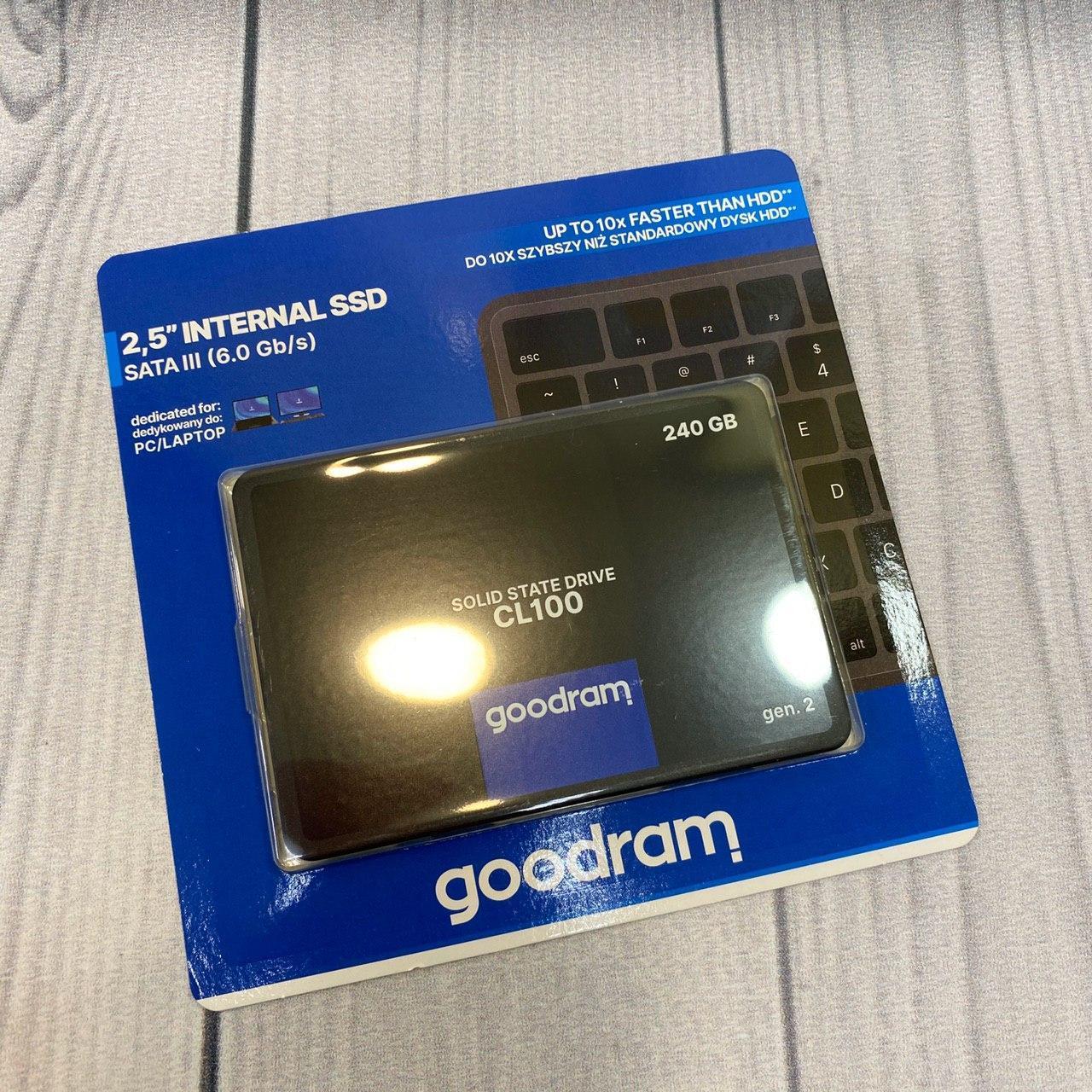 """Твердотельный накопитель Goodram SSD 240Gb SATA 3  2, 5"""" TLS"""