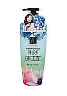 Парфюмированный корейский шампунь для волос для восстановления и придания блеска LG Elastine Pure Breeze, 600